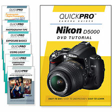 QuickPro Camera Training DVD For Nikon D5000 Instructional SLR Video Guide NEW