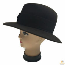 MAYSER Trilby Fedora Hat Wool Felt Cap Packable Crushable New