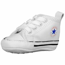 CONVERSE NEWBORN CRIB 81229 WHITE LEATHER FIRST ALL STAR BABY SHOES SIZE 1 - 4