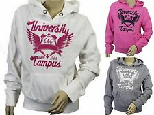 Girls SOUL & GLORY hoody hooded top ivory, hot pink or grey 7-8 9-10 & 11-12 yrs