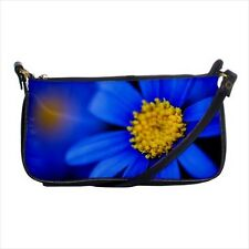 Blue Daisies Flowers Shoulder Clutch Handbag & Mini Coin Purse