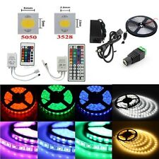 5M SMD RGB 3528/5050 Non/Waterproof 300 Leds Strip Light IR Remote Power Supply