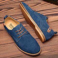 Plus Size Mens Flat Faux Suede Leather Dress Formal Oxfords Casual Lace Up Shoes