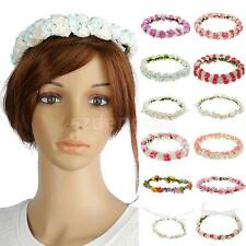 Floral Flower Party Wedding Bridal Crown Hair Wreaths Headband Hair Band Garland