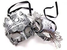 Princess Couple Masquerade Mask Set Costume Birthday Dance Prom Graduation Party