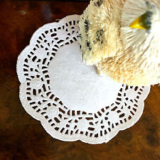 "50 100 200 4.5"" Round White Paper Lace Doilies Wedding Cake"