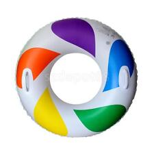 Colorful Swimming Pool Beach Inflatable Water Float Raft Ring Swim Trainer Aid