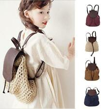 Women Girl Weave Straw Backpack Casual Shoulder Bag Rucksack Vacation Travel bag