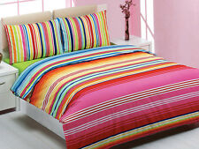 Stripes 100% Cotton Duvet Cover Bedding Set OR Comforter Set