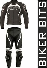 RST TRACTECH EVO-2 2PC Motorcycle Leathers Jacket & Trousers Black/White