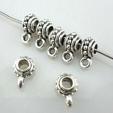 120/600pcs Tibetan Silver Connectors Spacer Bails Beads Jewelry Charms Findings