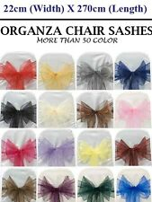 ORGANZA SASHES CHAIR COVER BOW SASH WIDER SASHES FOR A FULLER BOW FREE Shipping