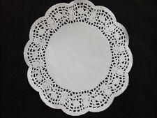 12' White Round Paper mat cake crafting bake many size lace pattern oil excess
