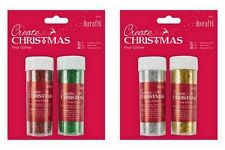 CHRISTMAS PRETTY TWIN PACKS GLITTER RED/GREEN GOLD/SILVER GREAT FOR CARDS