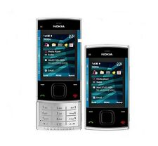 Original Nokia X Series X3-00 Silver/Blue(Unlocked) Cellular Phone Free Shipping