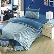 Kids Bedding Quilt Doona Duvet Cover Bed Sheet Pillowcase Set Queen -Teal  Style