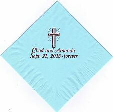 CROSS LOGO 50 Personalized printed LUNCHEON DINNER napkins