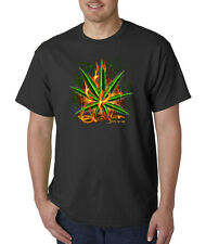 Stoner Fire It Up Marijuana Leaf Weed Pot Joint Smoking T-Shirt S-5XL