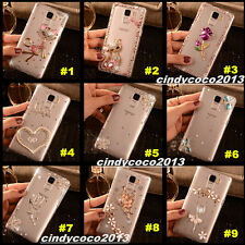 Luxury Shine Bling Diamonds Clear Crystal Soft Back TPU Shell Case Cover Skin A