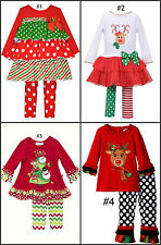 *NEW GIRLS Bonnie Jean Rare Too  Holiday Christmas OUTFIT SET 18M 24M 2T