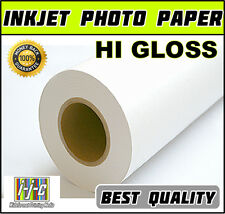 """Roll of Inkjet Photo Paper 42"""" x 30m High Gloss Superior Quality 250gsm ink jet"""