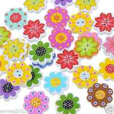 50PCs/Lot Wholesale Buttons Mixed Scrapbook Sewing Accessories DIY Craft 2 Holes