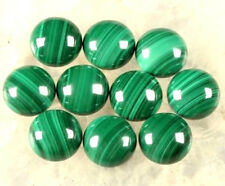 Natural Malachite Cabochon Round 3mm - 15mm Calibrated Size Loose Gemstone