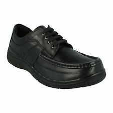 MENS HUSH PUPPIES LACE UP ROUND TOE LEATHER FORMAL SHOES ZACH