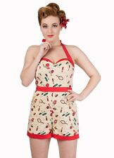 Banned New Romantics Playsuit Make Up Retro Vintage 50s Rockabilly 8 10 12 14 16