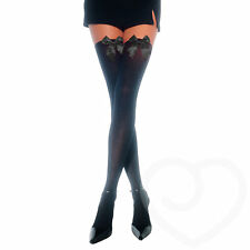 Leg Avenue Opaque Thigh High Stockings with Satin Bow