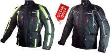 8080 Fluorecent High Visibility Textile Waterproof Motorcycle Jacket Black