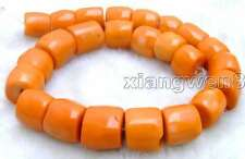"SALE Big 15-20mm High Quality Orange Natural Column Knurl Coral strand 15""-los61"