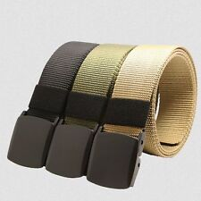 Mens Canvas Belts Outdoor Leisure Nylon Strap Buckle Hypoallergenic Waist Belts