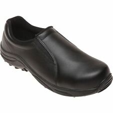 Brazos Men's Leather Steel Toe Safety Work Shoes Black
