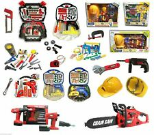 Kids DIY Tools Box Set Toy Drill Chainsaw Helmet Mask Pretend Play Set Selected