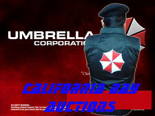 RESIDENT EVIL BIOHAZARD VEST UMBRELLA CORP. BLACK EMBROIDERED CAPCOM GAMERS
