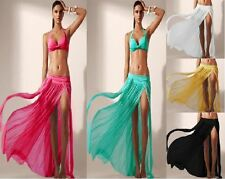 Sexy New Bikini Cover Up Swimsuit Sheer Beach Maxi Skirt Dress UK 6-10 BIKINI