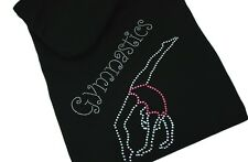 Gymnastics Hoodie Personalised Full Zip Rhinestone Diamante Girls & Adults