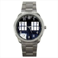 Tardis Dr Who Telpephone Police Box Stainless Steel Watches