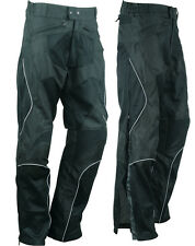 Mesh Armored Waterproof Duratex 600D Reflective Motorcycle Biker Pants Sizes