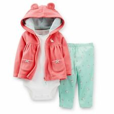 CARTER'S BABY GIRL 3PC CARDIGAN BODYSUIT PANT SET 3 6 9 12 MONTHS CLOTHES OUTFIT