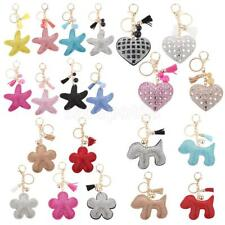 Soft Diamante Rhinestone Charm Pendant Keyring Key Chain Purse Bag Decoration