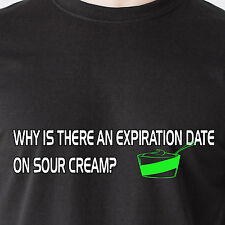Why is there an expiration date on sour cream? chips dip hot retro Funny T-Shirt