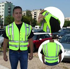 NEW HI VIS ANSI/ISEA Class 2 Police Security Safety Vest 5-Point Breakaway 3M