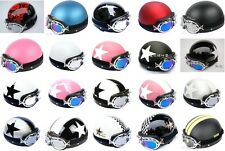 New Open Face Half of Motorcycle Scooter Helmet Goggles/Visor 20 kinds Color