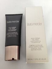 Laura Mercier Silk Creme Oil Free Photo Edition Foundation 1oz  Bamboo beige NIB