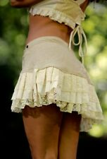 Lily Layer Skirt - Festival Mini Skirt Gypsy Layer Hippie Lace Goa Fairy