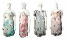 Ladies Lovely Light Floral Silk Dress With Beautiful Lace Detail On Shoulder