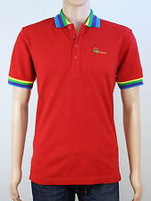NEW Duck & Cover Mens Size M L Red Short Sleeve Polo Shirt Top