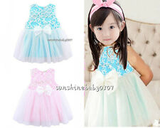 baby clothes dress infant baby  girls Pageant party dress daily lace dress bow